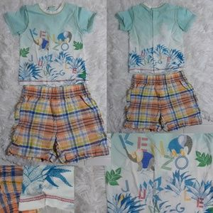 KENZO T-Shirt, Nursery Rhyme Shorts Outfit-3-6Mos